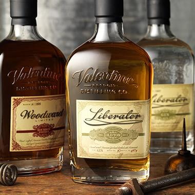 Liberator Gin & Woodward Bourbon