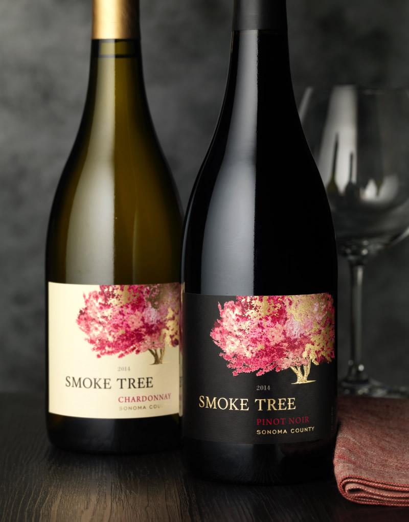 Smoke Tree Wine Label Package Design on Custom Park Avenue