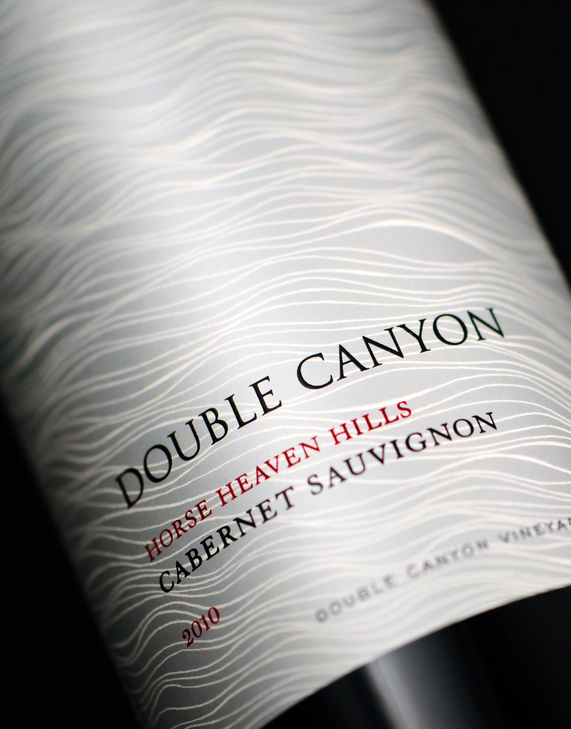 Double Canyon Wine Packaging Design & Logo Label Detail