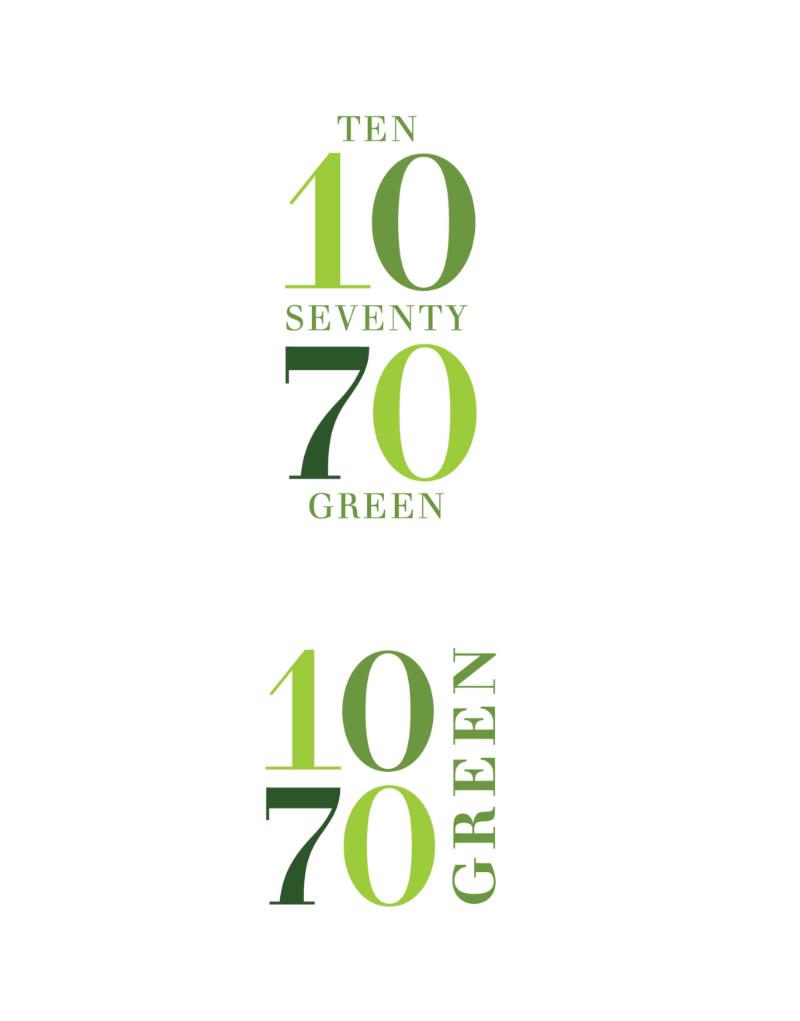 1070 Green Logo Design