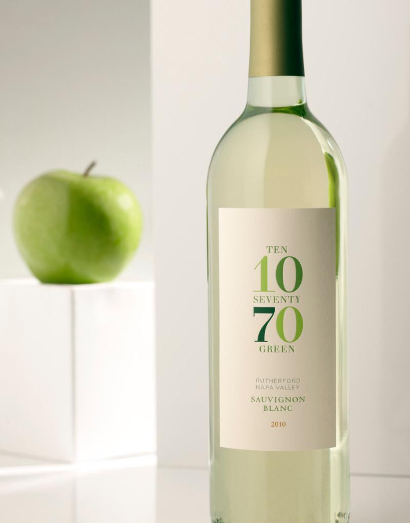 1070 Green Wine Packaging Design & Logo