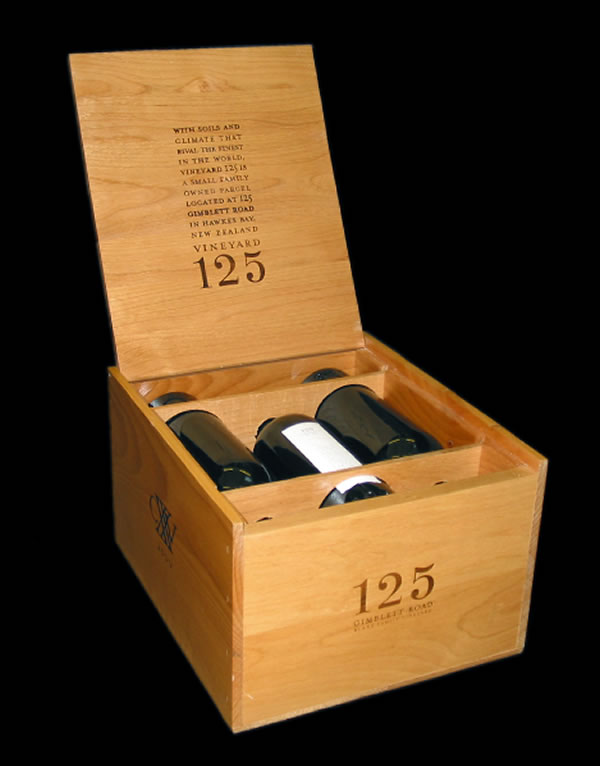125 Wines Wood Box Design
