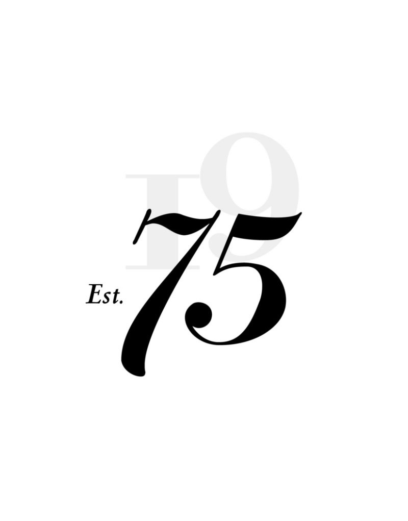 75 Wines Logo Design