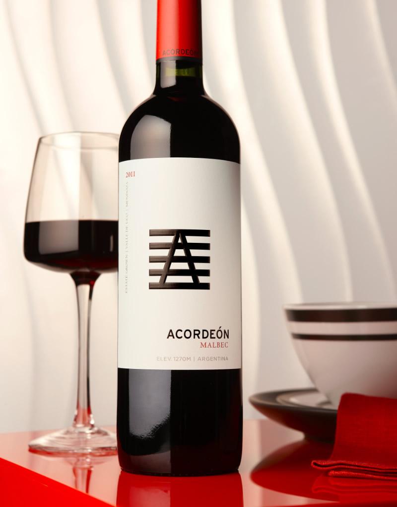 Acordeón Wine Packaging Design & Logo Malbec