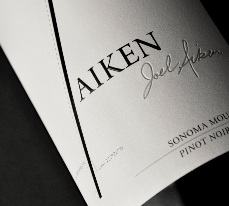 Aiken Wine Packaging Design & Logo Label Detail