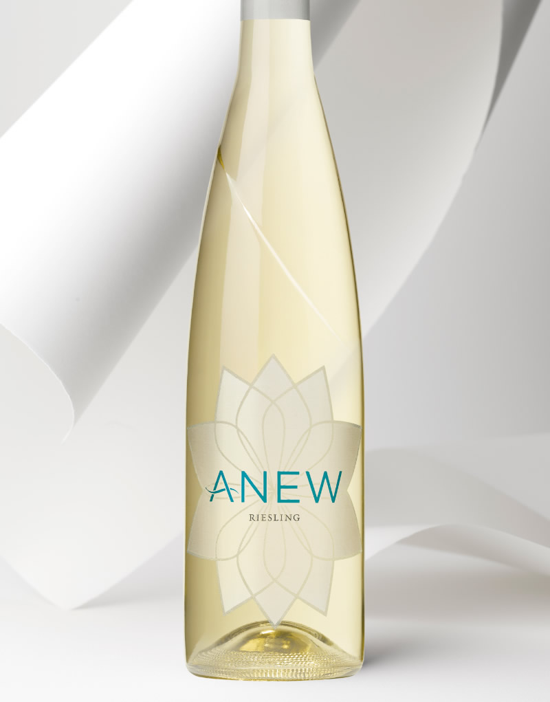 Anew Wine Packaging Design & Logo