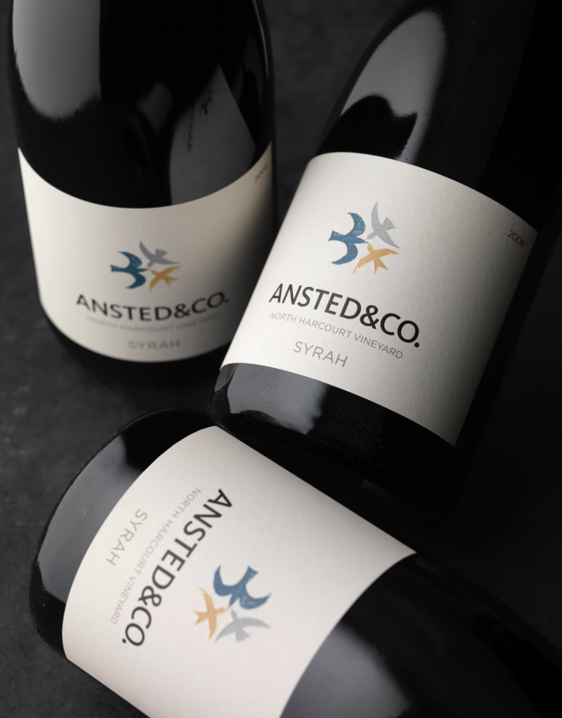 Ansted & Co Wine Packaging Design & Logo