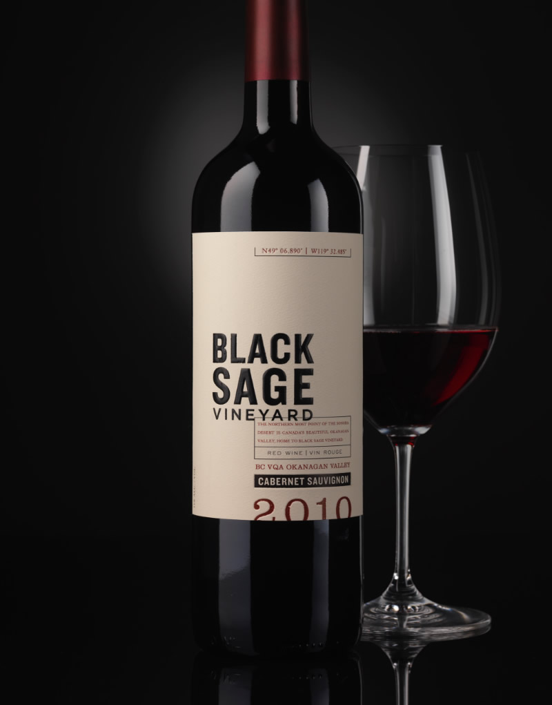 Black Sage Vineyard Wine Packaging Design & Logo