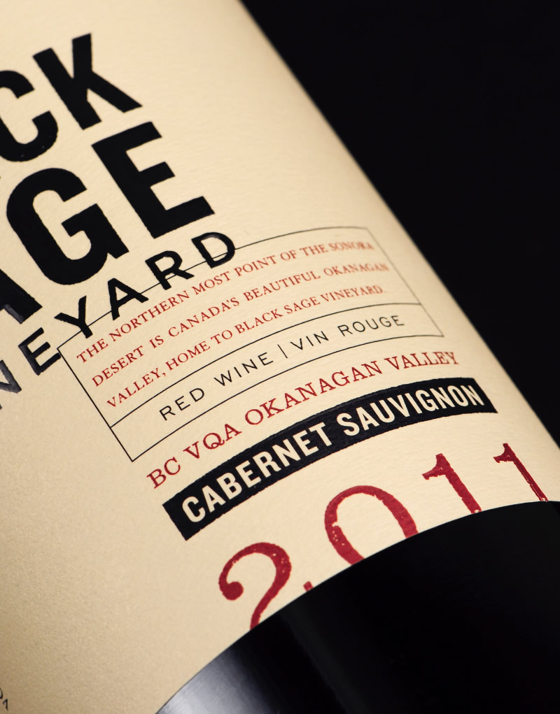 Black Sage Vineyard Wine Packaging Design & Logo Label Detail
