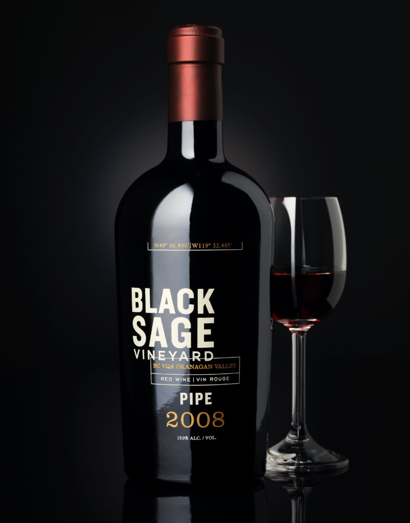 Black Sage Vineyard Wine Packaging Design & Logo Pipe Wine