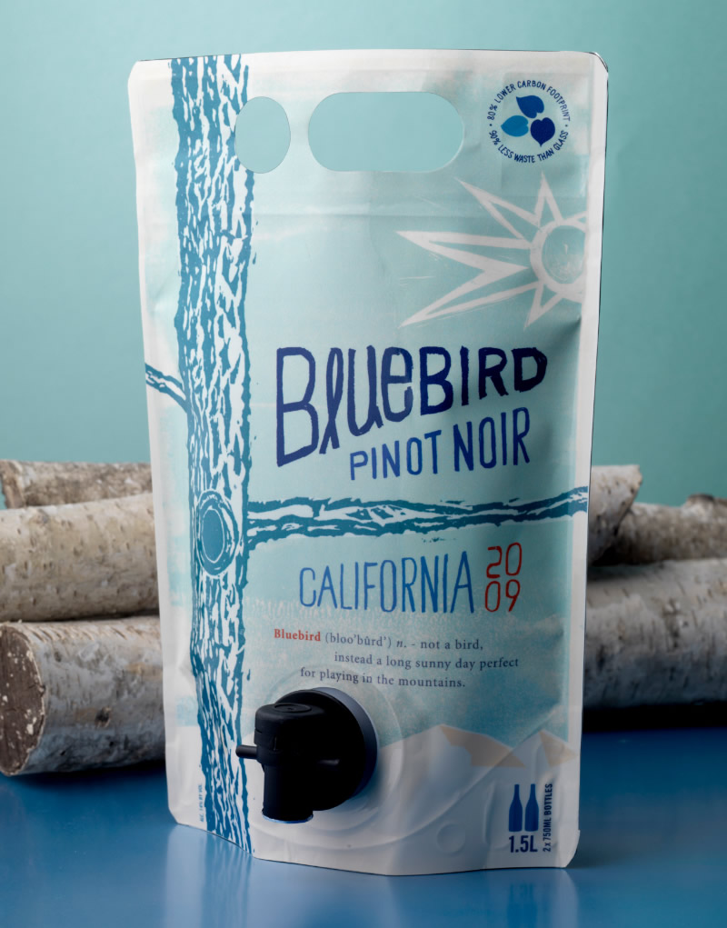 Bluebird Wine Packaging Design & Logo Astrapouch