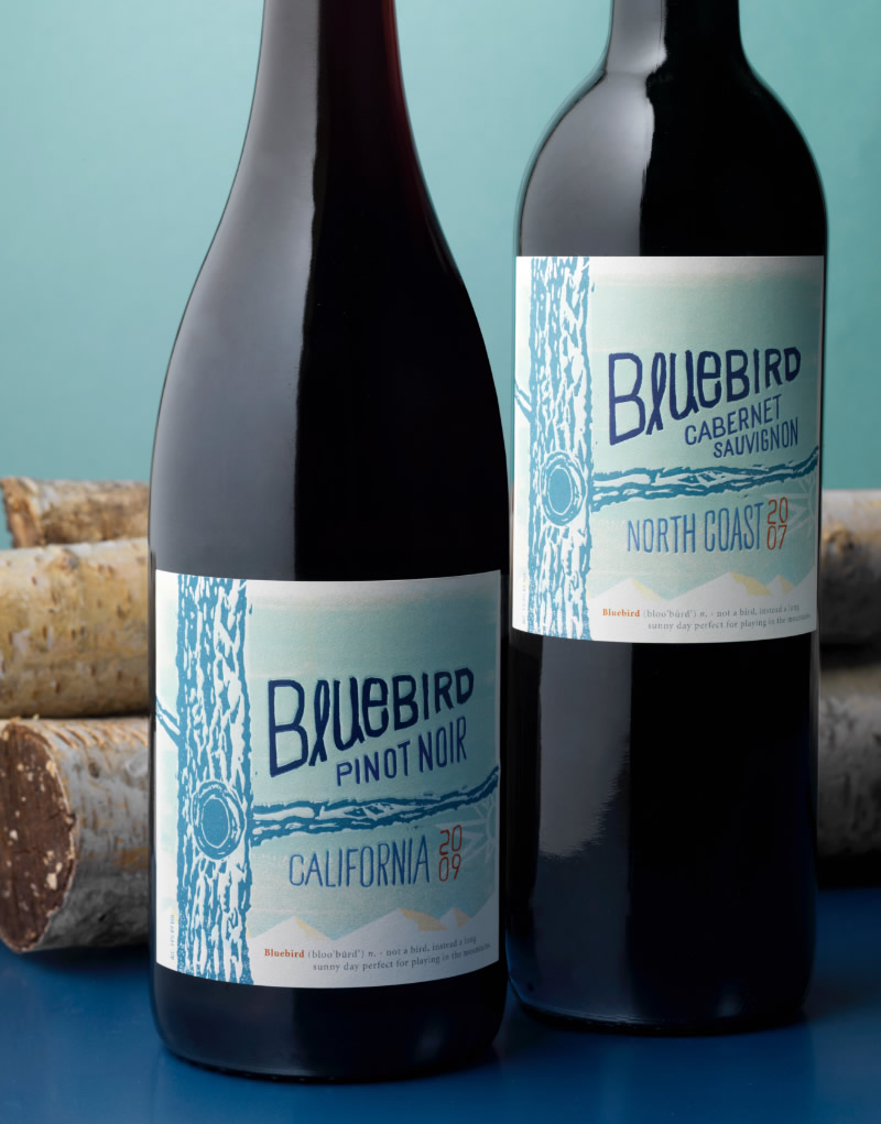 Bluebird Wine Packaging Design & Logo