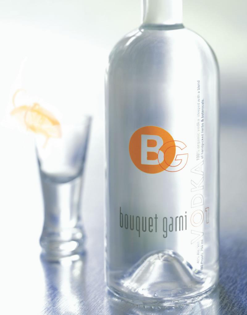 BouquetGarni Vodka Packaging Design & Logo
