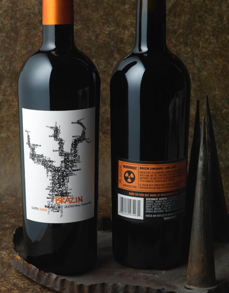 Brazin Wine Packaging Design & Logo