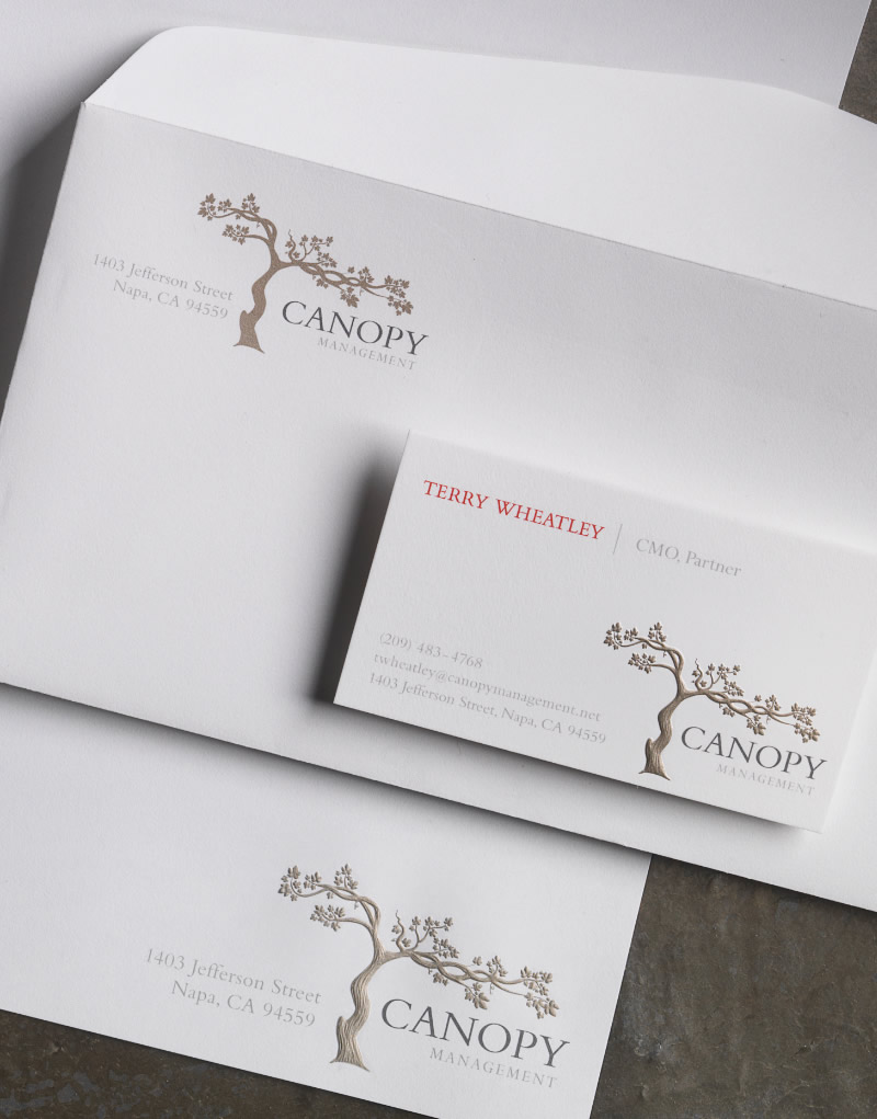Canopy Management Stationery Design