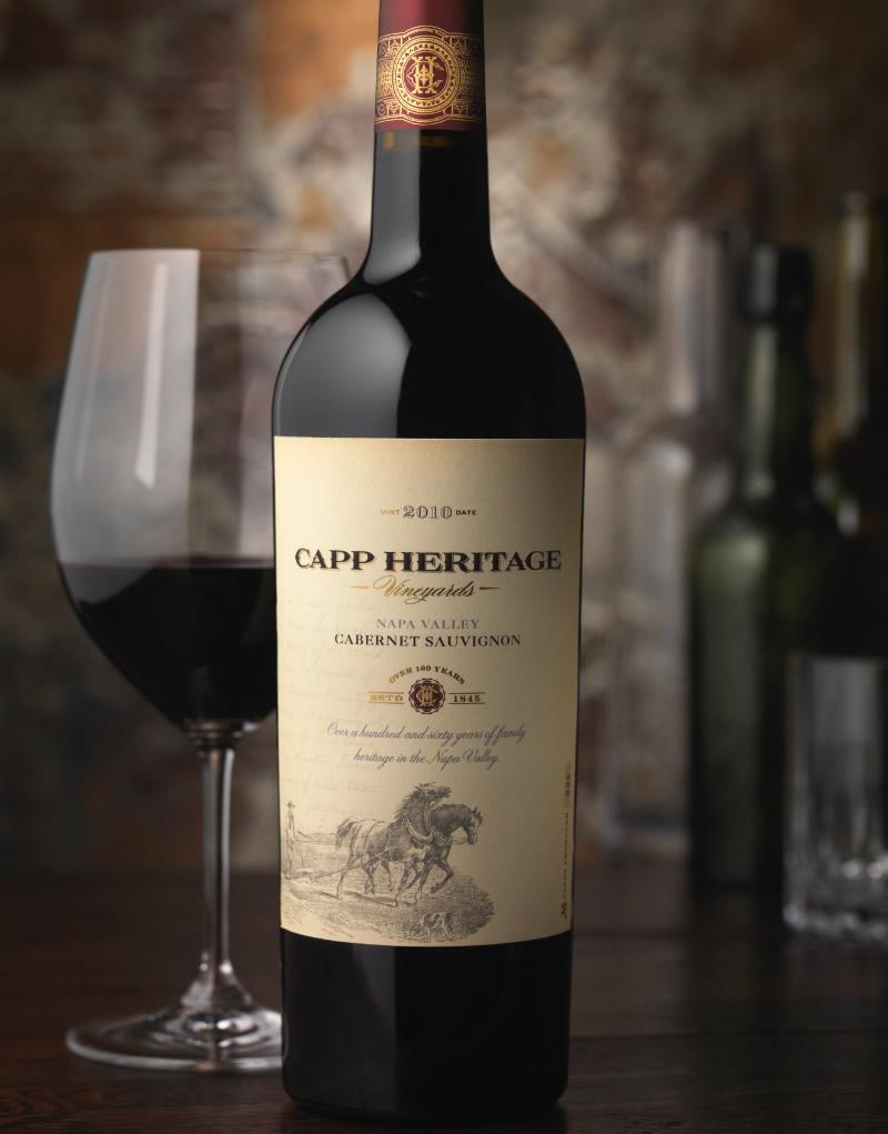 Capp Heritage Vineyards Wine Packaging Design & Logo
