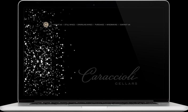 Caraccioli Cellars Hompage Website Design