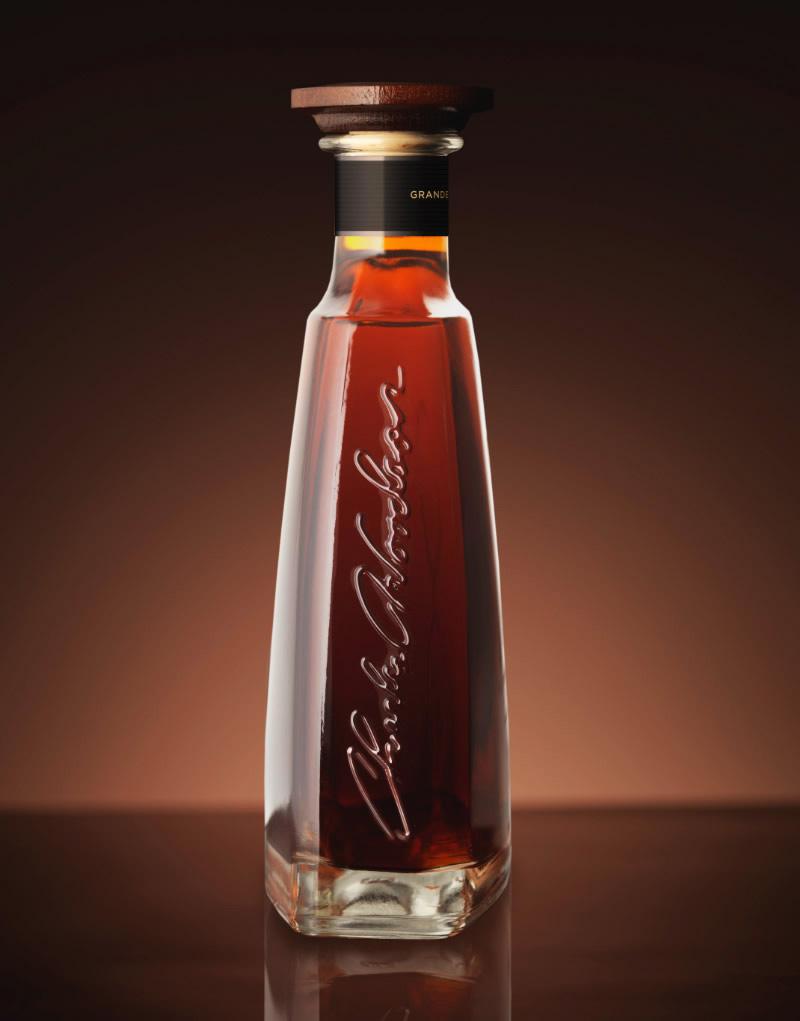 Charles Woodson Cognac Packaging Design & Logo Bottle Detail