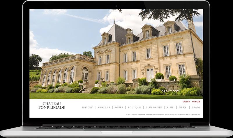 Château Fonplégade Homepage Website Design