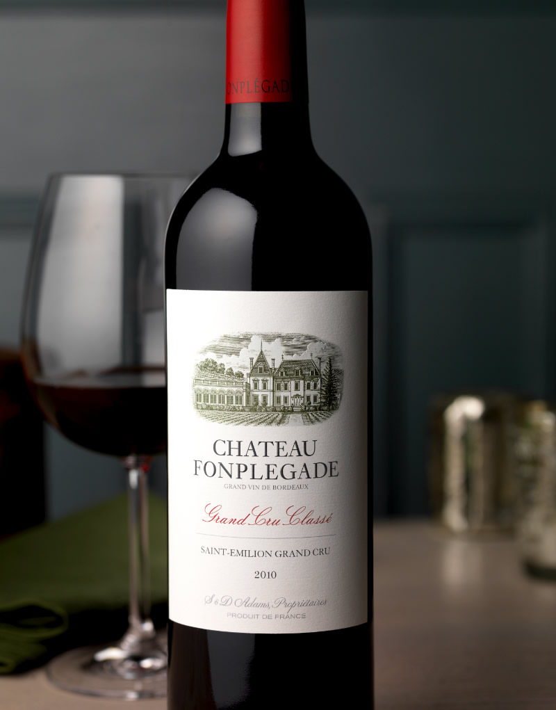 Château Fonplégade Wine Packaging Design & Logo