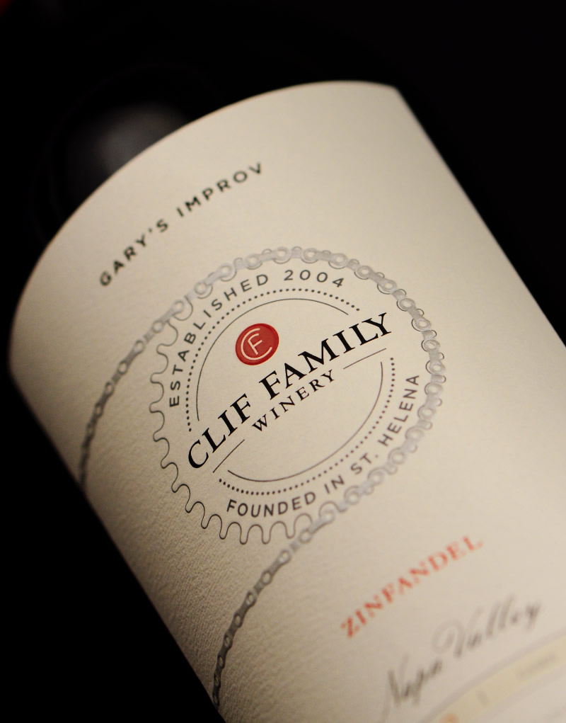 Clif Family Winery Packaging Design & Logo Label Detail