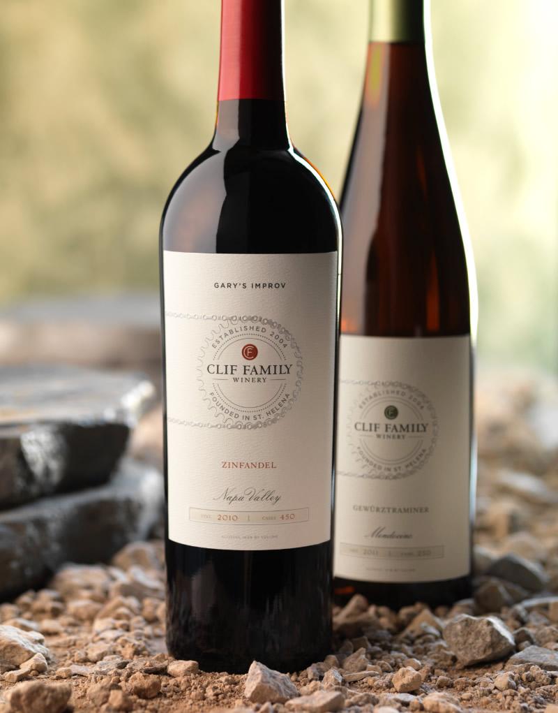 Clif Family Wine Packaging Design & Logo