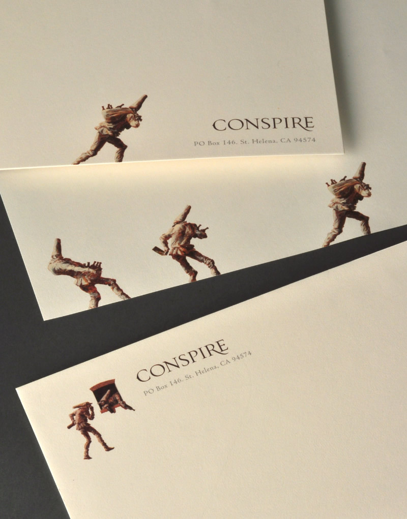 Conspire Stationery Design
