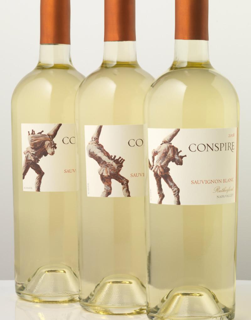 Conspire Wine Packaging Design & Logo