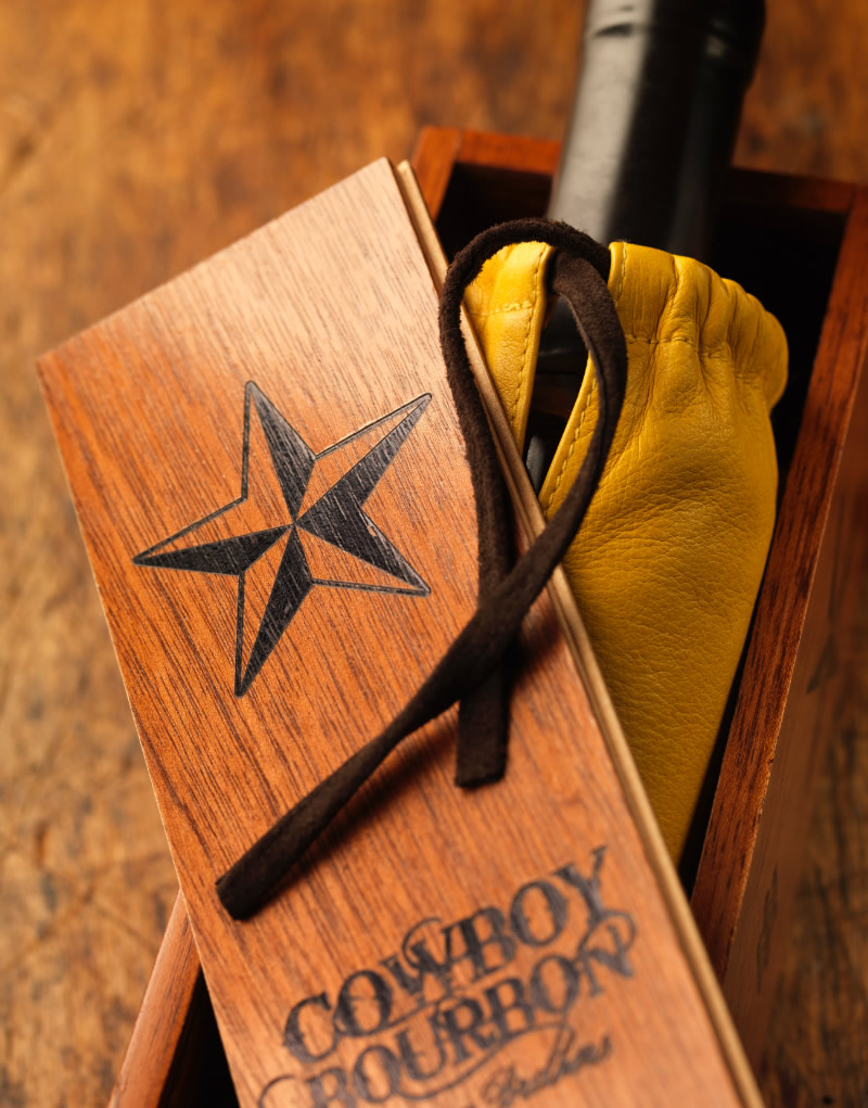 Cowboy Bourbon Wood Gift Box Design