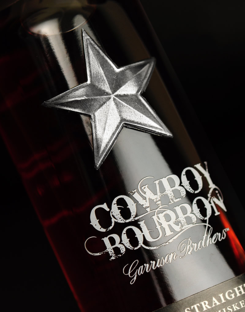 Cowboy Bourbon Packaging Design & Logo Bottle Detail