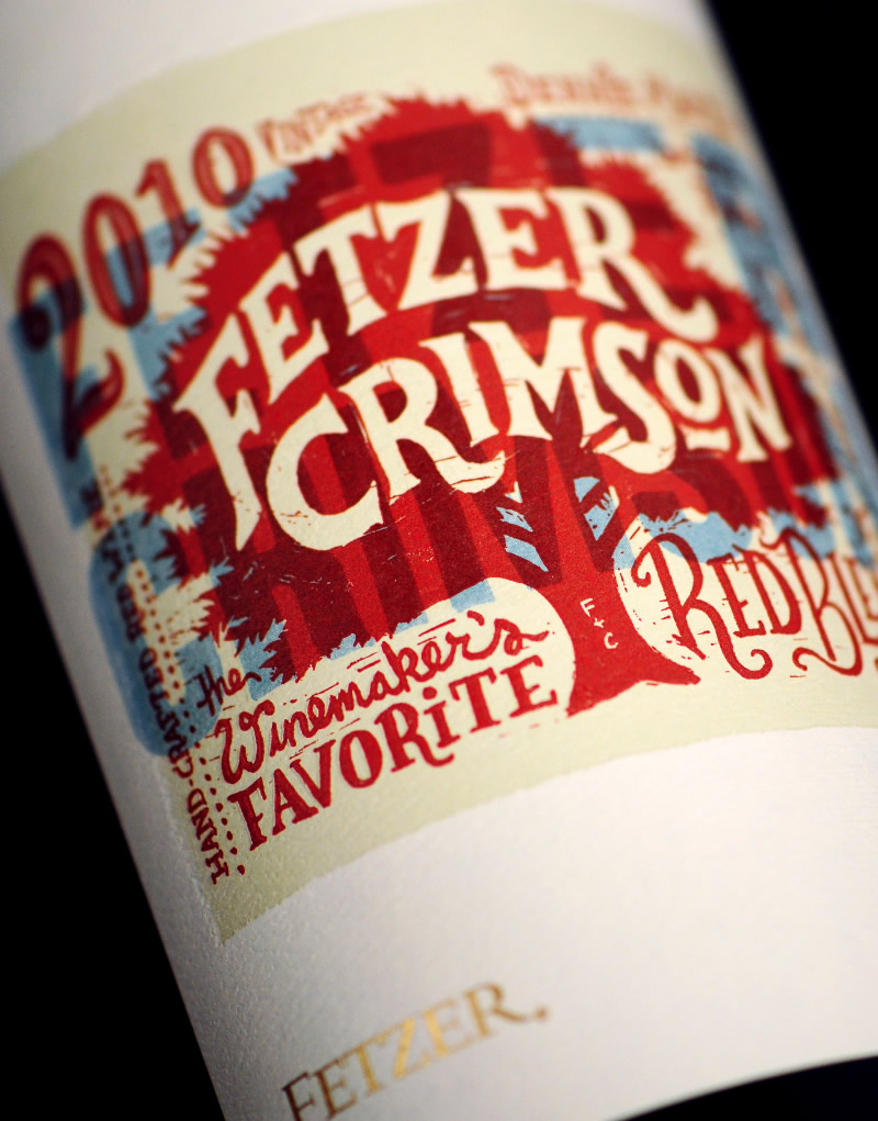 Fetzer Crimson Wine Packaging Design & Logo Label Detail