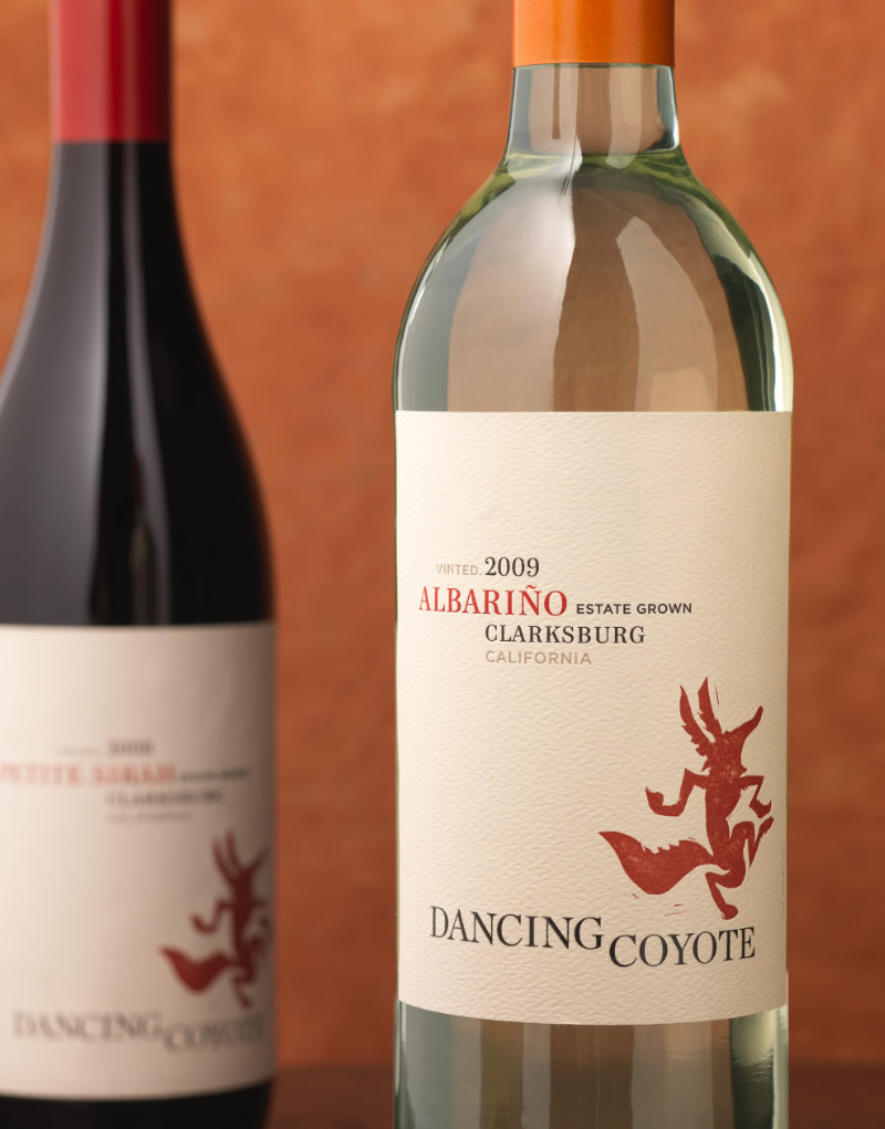 Dancing Coyote Wine Packaging Design & Logo