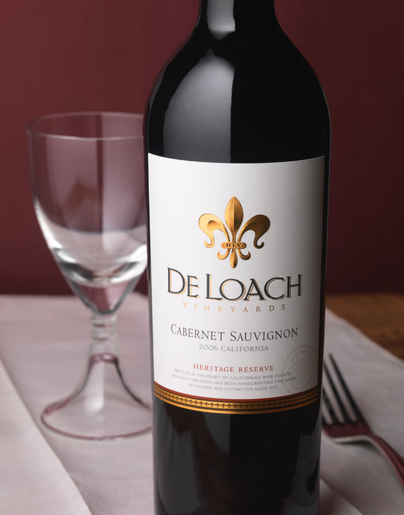 DeLoach Vineyards Wine Packaging Design & Logo