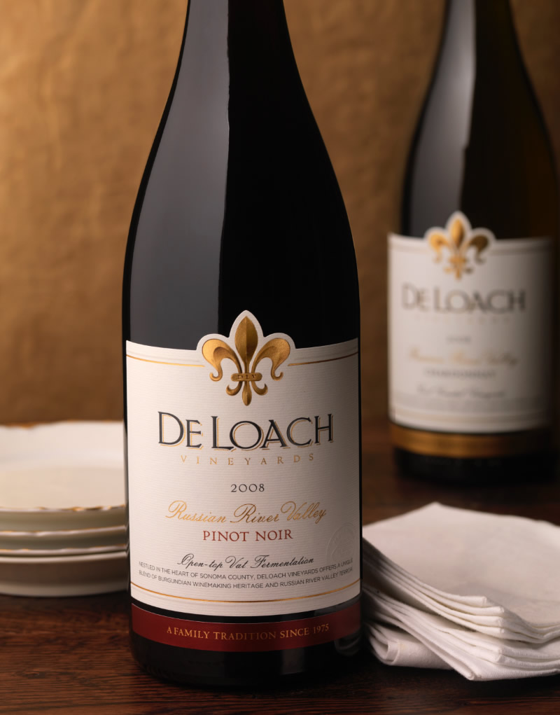 DeLoach Vineyards Wine Packaging Design & Logo Russian River Valley
