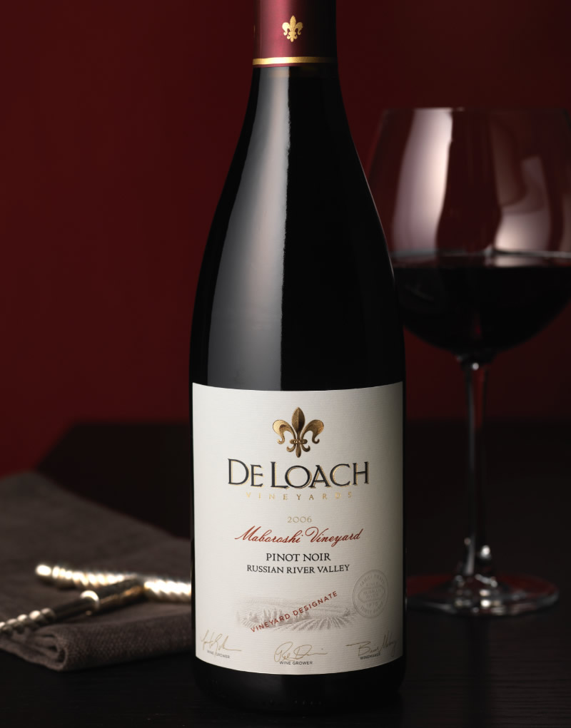 DeLoach Vineyards Wine Packaging Design & Logo Vineyard Designate Wine