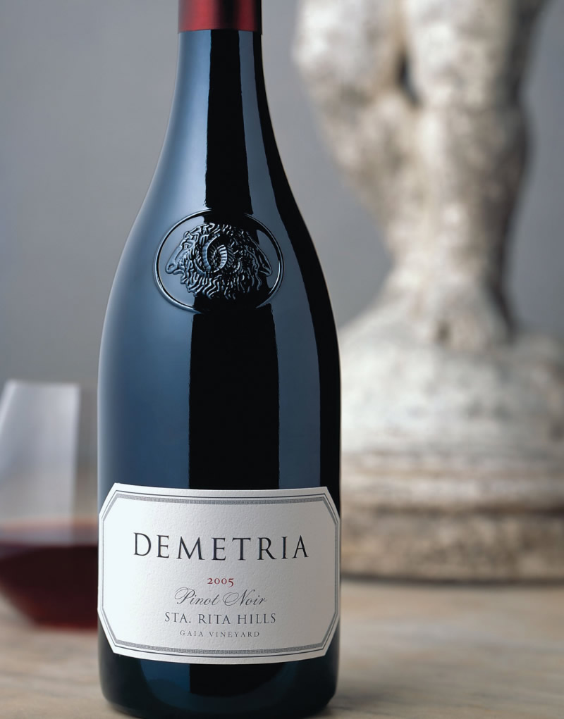 Demetria Wine Packaging Design & Logo Gaia