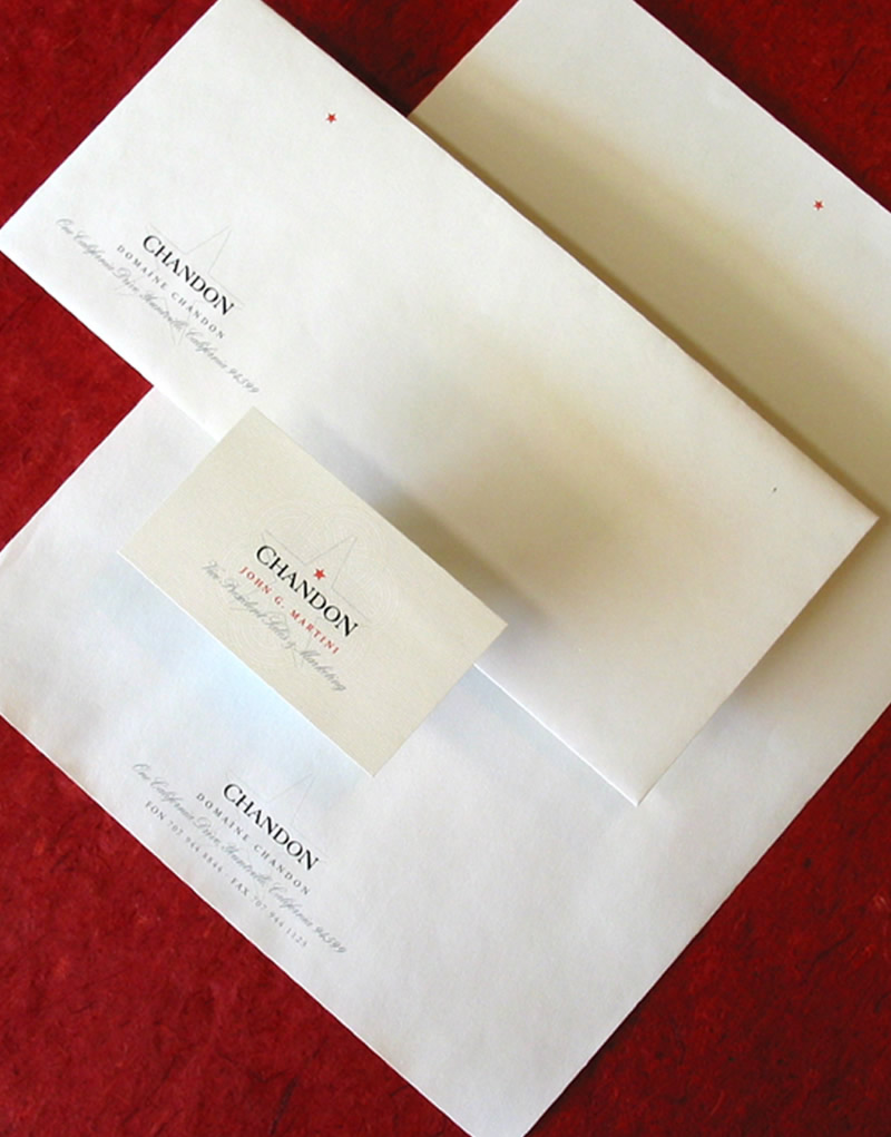 Domaine Chandon Stationery Design