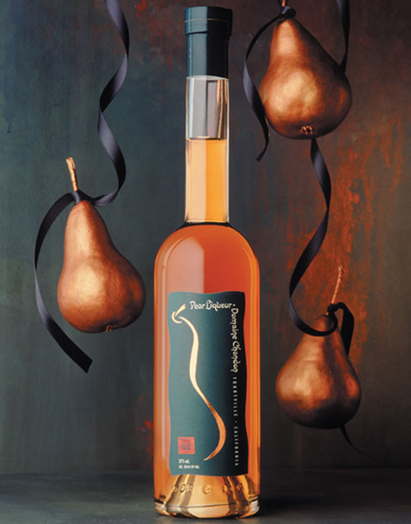 Domaine Chandon Pear Liqueur Packaging Design & Logo
