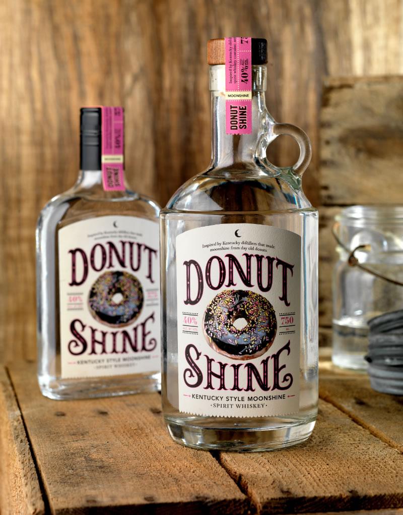 Donut Shine Moonshine Packaging Design & Logo