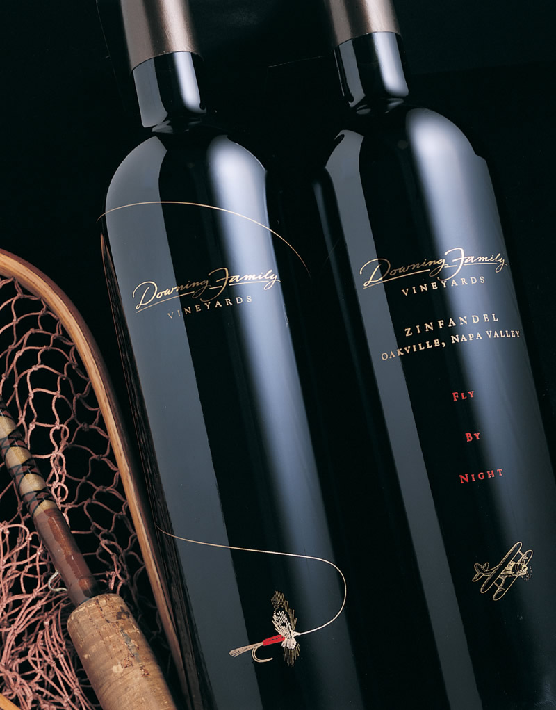 Downing Family Wine Packaging Design & Logo