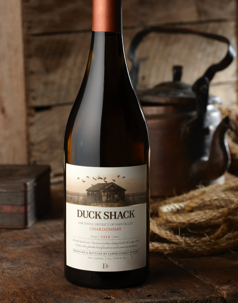 Duck Shack Wine Packaging Design & Logo