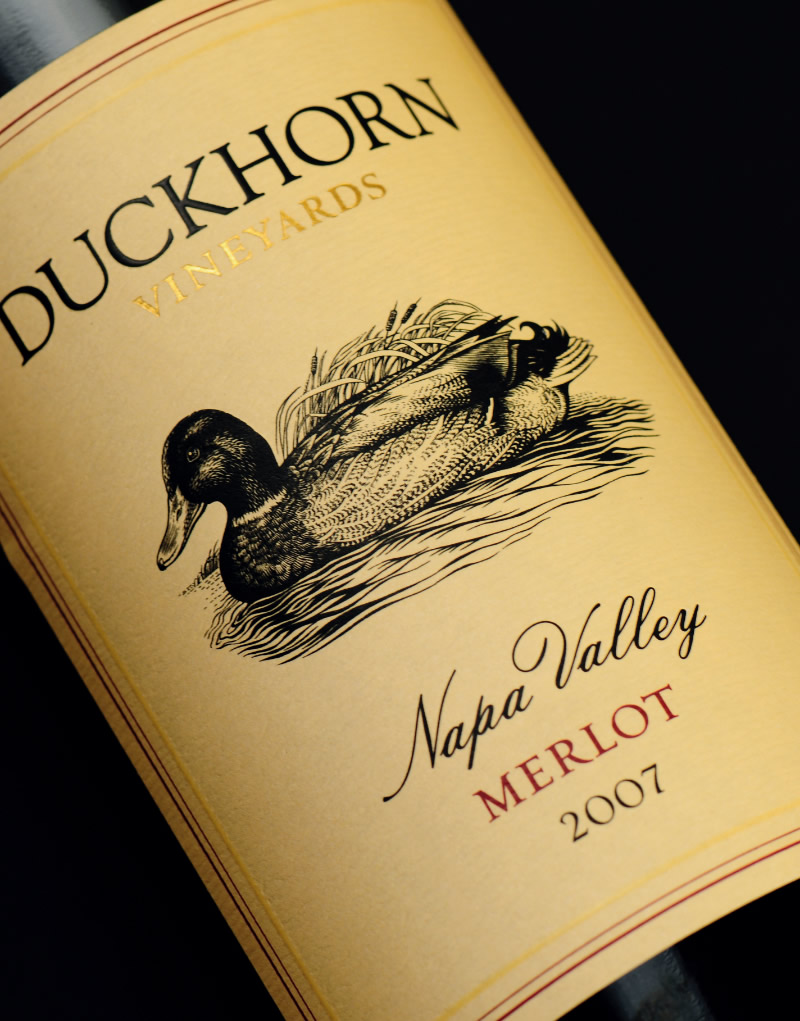Duckhorn Wine Packaging Design & Logo Label Detail