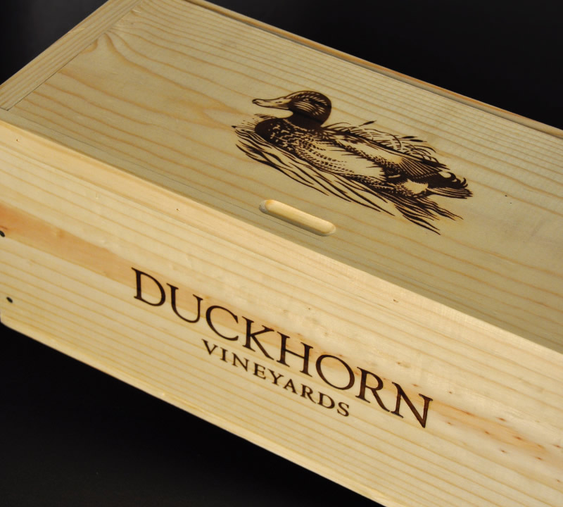 Duckhorn Wine Wooden Shipper Design