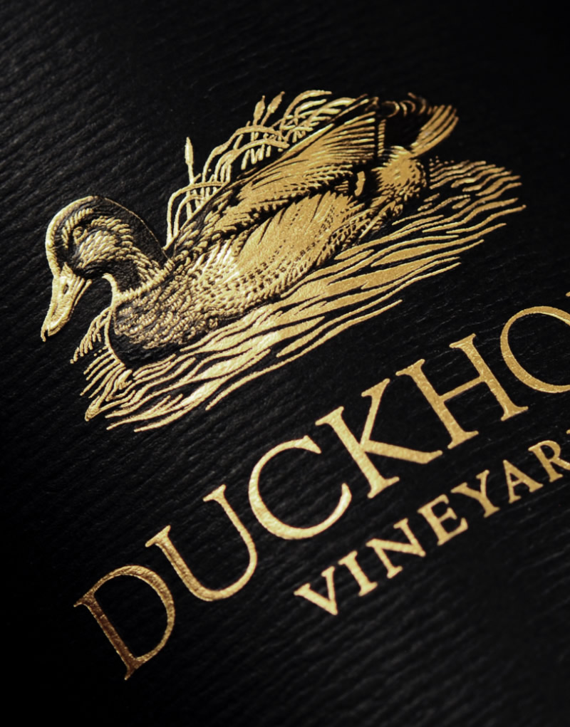 Duckorn Wine Company The Discussion Logo & Packaging Design Label Detail