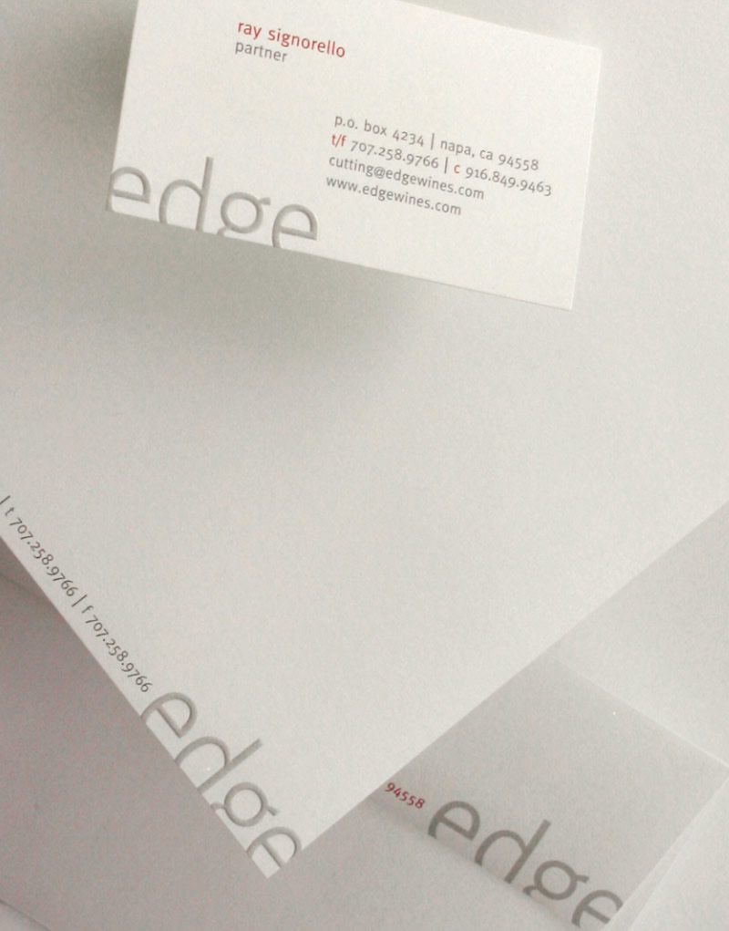 Edge Wines Stationery Design
