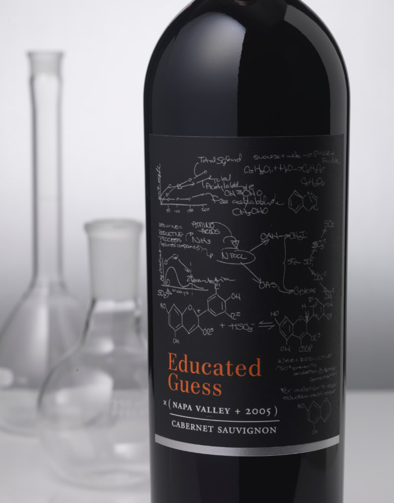 Educated Guess Wine Packaging Design & Logo