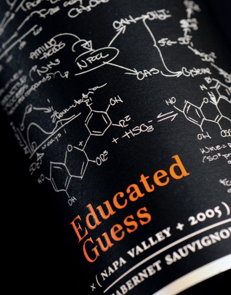 Educated Guess Wine Packaging Design & Logo Label Detail