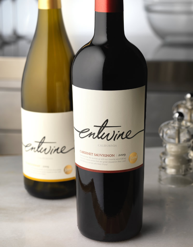 Entwine Wine Packaging Design & Logo