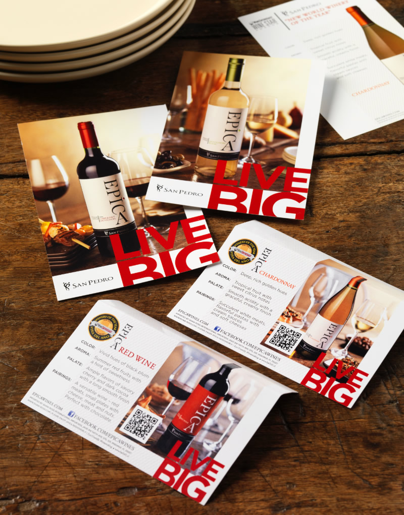 Epíca Tasting Shelf Cards Design