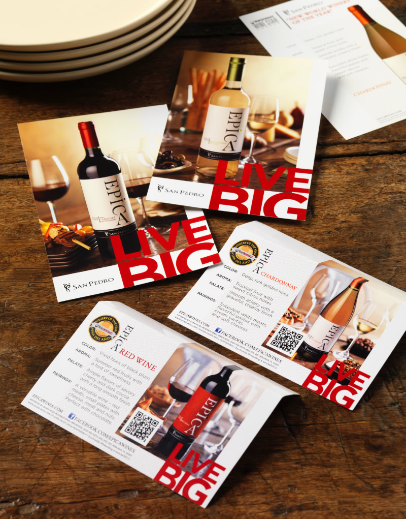 Epíca Tasting Cards & Shelf Cards Design